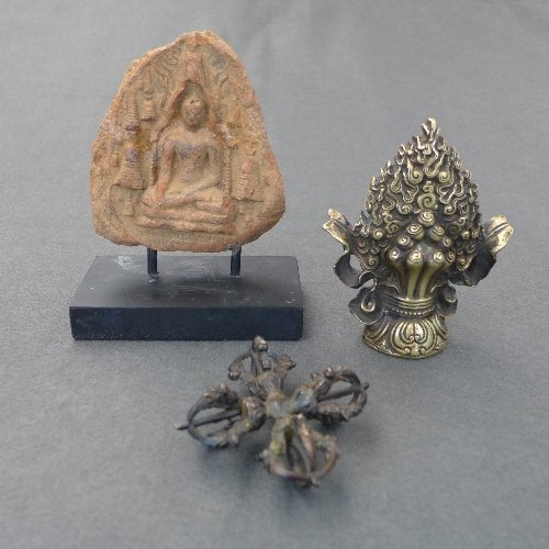 A collection of three Tibetan items including one small