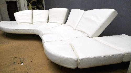 An Edra 'Flap' adjustable sofa, designed by Fransesco