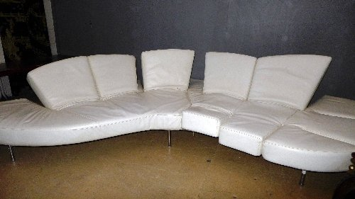 An Edra 'Flap' adjustable sofa, designed by Fransesco - 4
