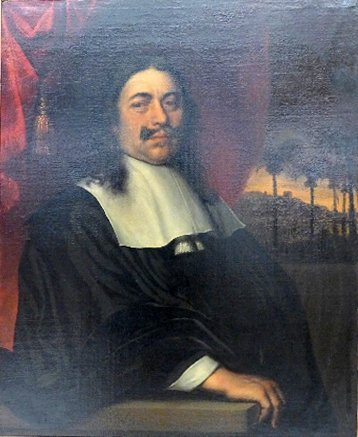 A C17th Dutch school oil on canvas of a gentleman with