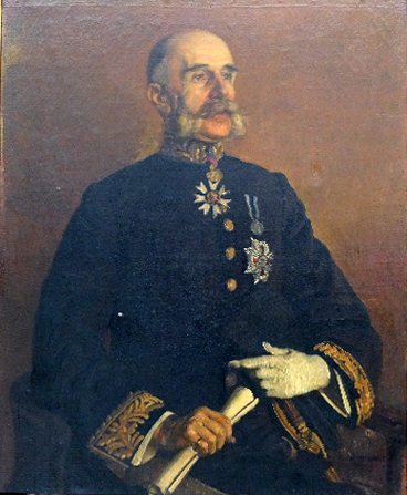 An early C20th oil on canvas of a military gentleman wi