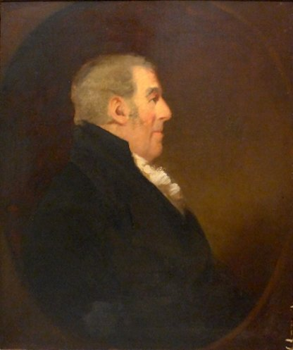 A Victorian oil on canvas of profile of a gentleman 104
