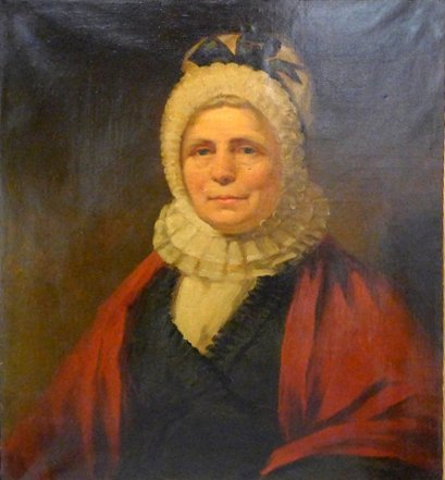 """A Victorian oil on canvas portrait of """"Old Lady in Ruff"""