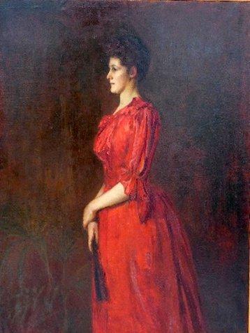 A Victorian oil on canvas portrait of 'Aunt Bessie' (da