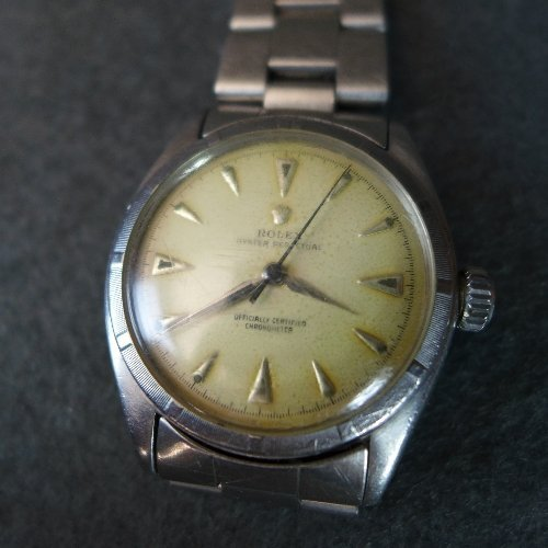 A gentleman's stainless steel Rolex perpetual motion wr