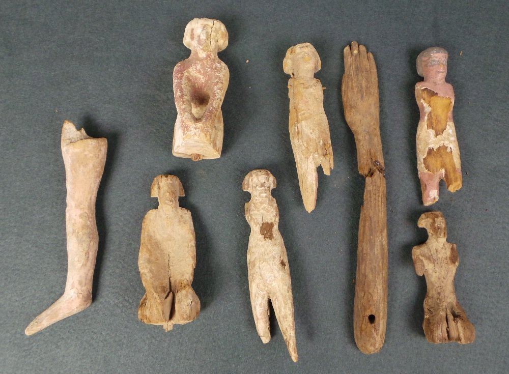 A collection of nine possibly Middle Kingdom Egyptian a