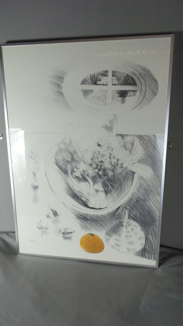 An original Mary Fedden pencil and ink study of a