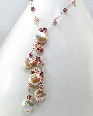 Freshwater Pearl & Glass Bead Necklace