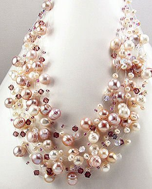 15-Strand Freshwater Pearl Necklace