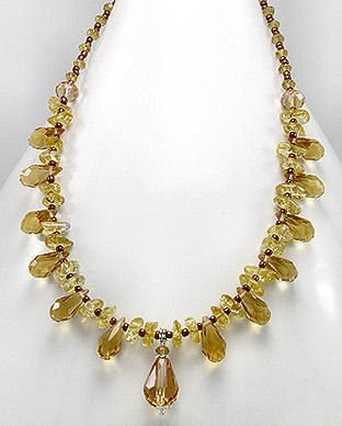 Citrine Crystal & Stone Necklace