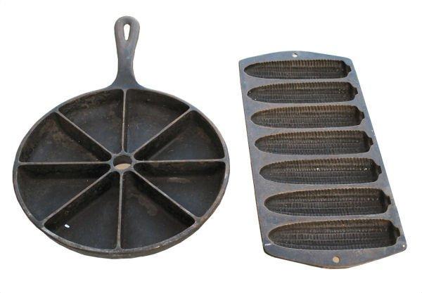 Lot of 2: Cast Iron Cornbread Pans