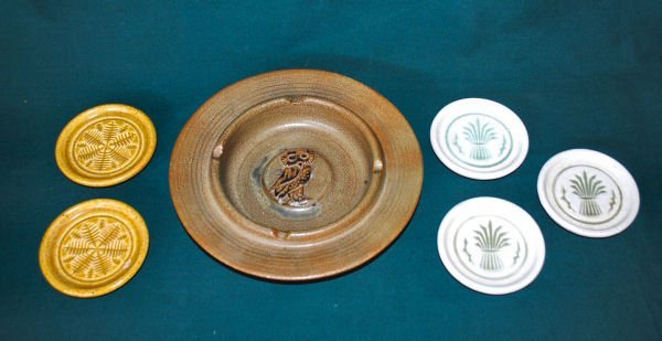 Lot of 6: Pigeon Forge Ash Tray & Coasters