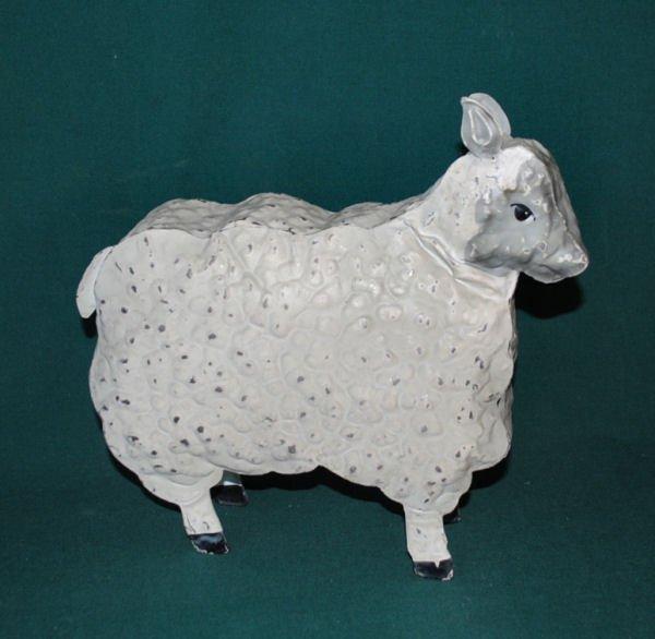 Folk Art Hammered Metal Sheep