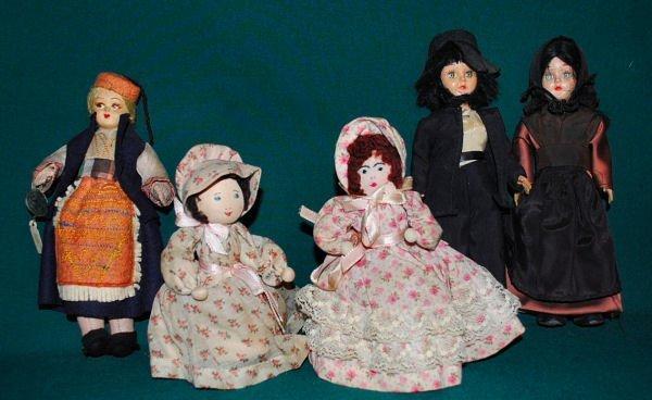 Lot of 5 Vintage Dolls