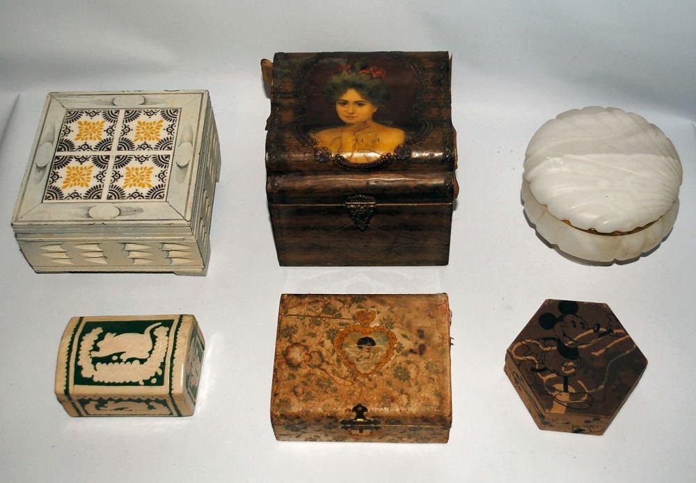 Lot of 6: Dresser & Vanity Boxes