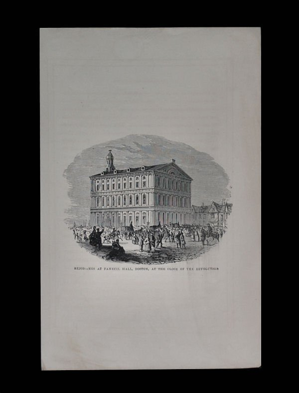 Faneuil Hall Boston Engraving, 1873