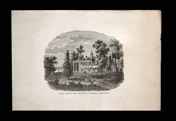 Mount Vernon Engraving, 1876