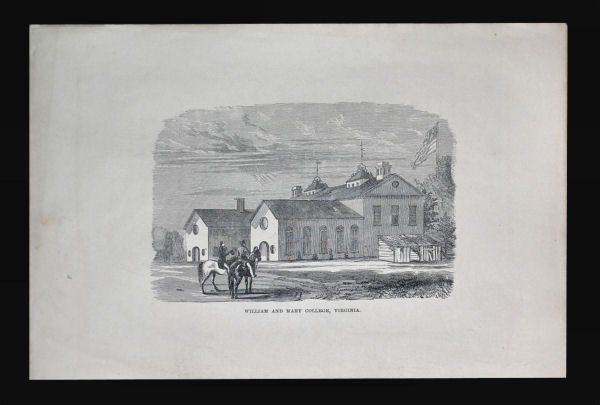 William and Mary College Engraving, ca 1870s