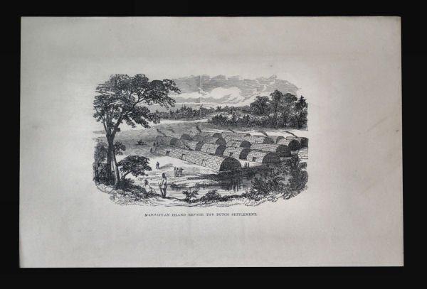 Manhattan Island Before Dutch Engraving, ca 1890s