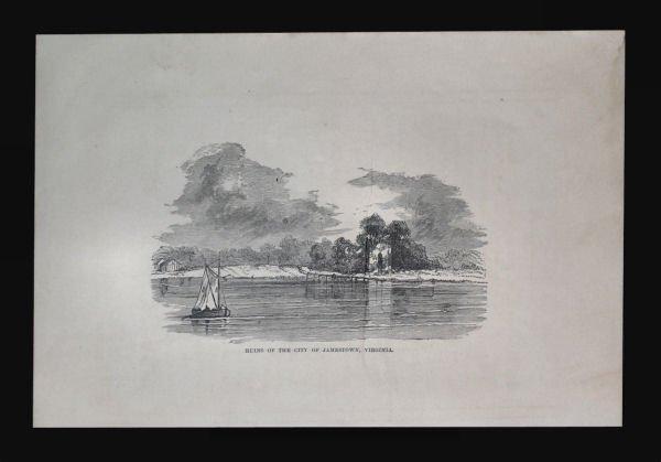 Ruins of the City of Jamestown Vigrinia Engraving,