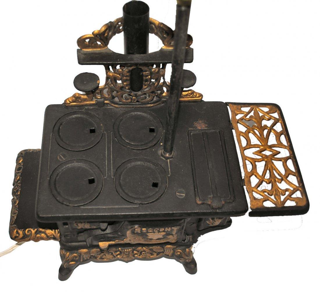 Antique Crescent Stove Salesman Sample Lamp - 3