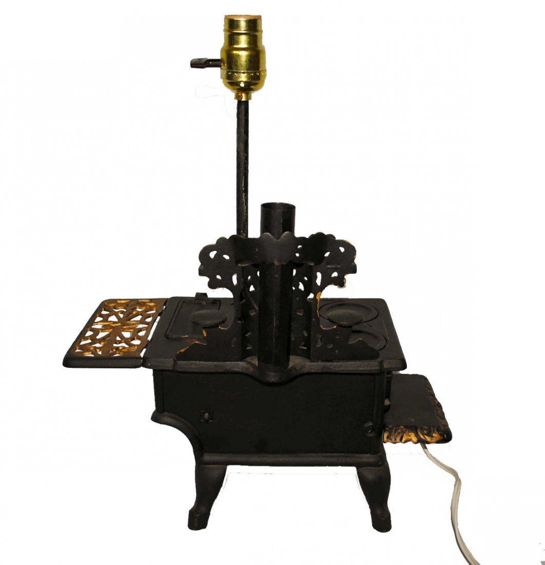 Antique Crescent Stove Salesman Sample Lamp - 4