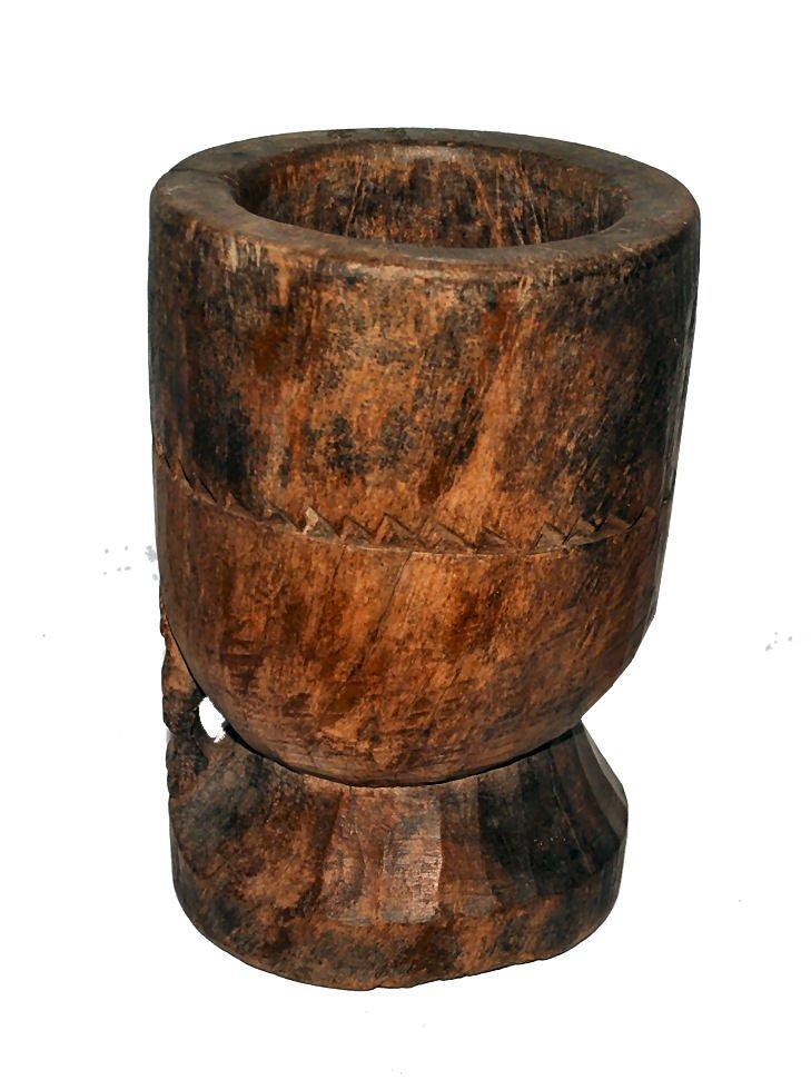 Primitive Carved Wood Vessel