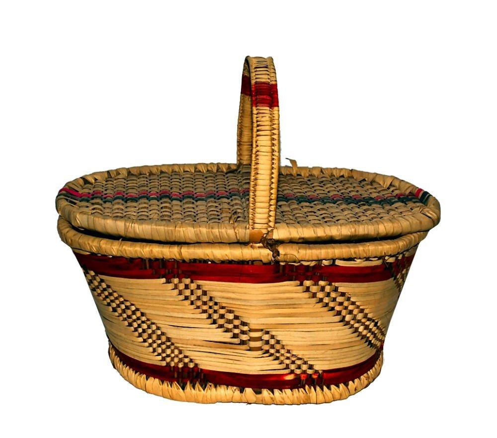 Woven Lidded Toto Basket