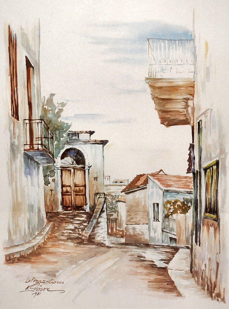 K. GIASEY Watercolor Print - Cyprus