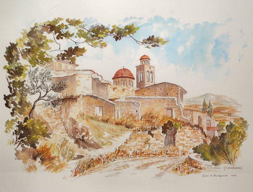 JUNE BURROWS Watercolor Print - Cyprus