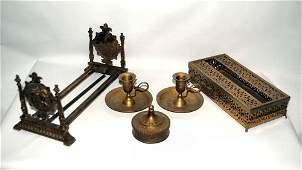 Lot/5 Vintage Brass Items
