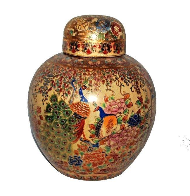 Large Moriage Painted Ginger Jar
