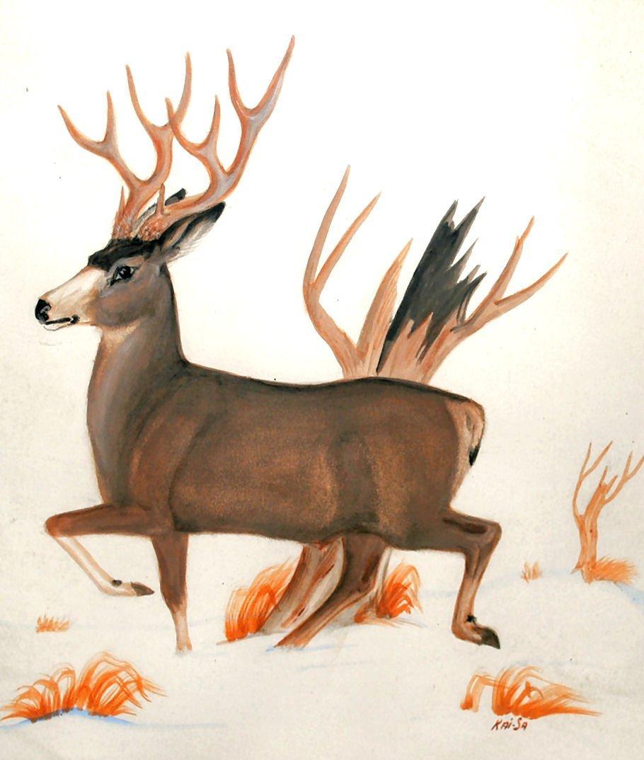 Zuni Artist PERCY SANDY (KAI-SA) Watercolor