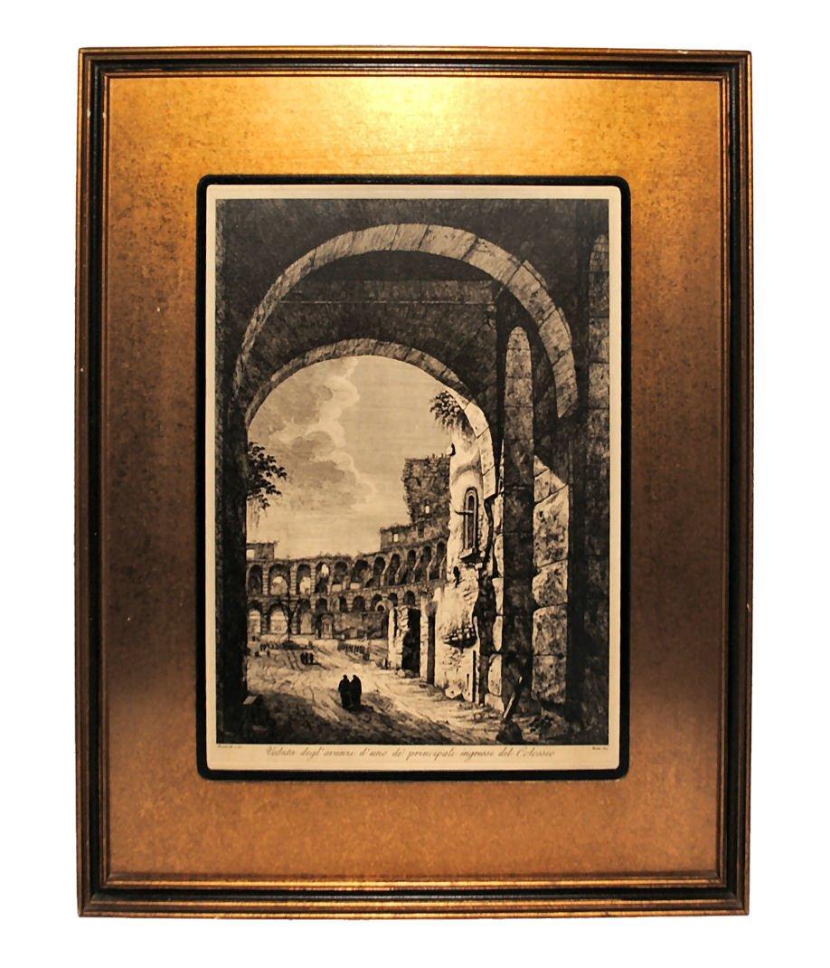 ROSSINI Colosseum Rome Engraving