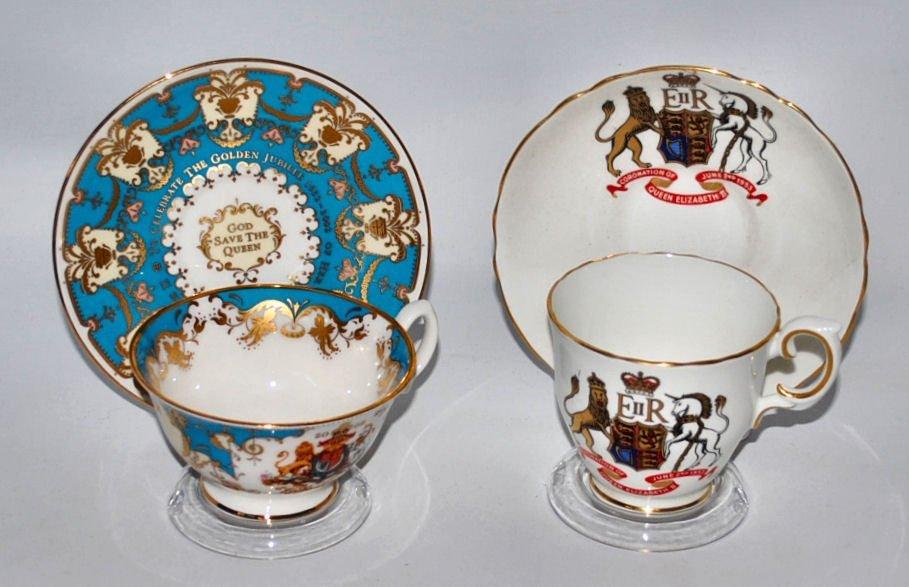Commemorative British Cups & Saucers