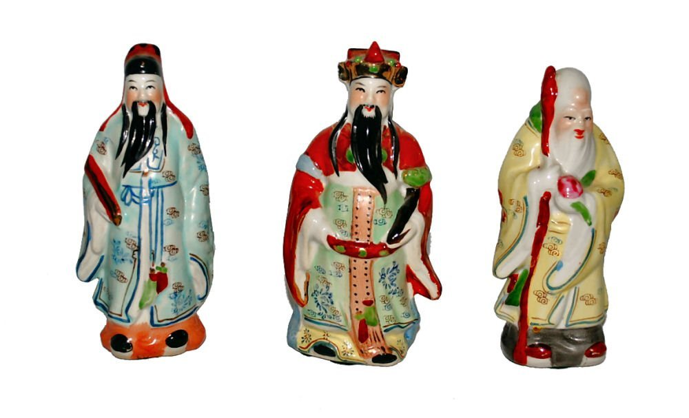 Set/3 Asian Figurines