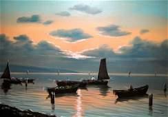 GIOVANNI MARATTI Sunset Oil on Board