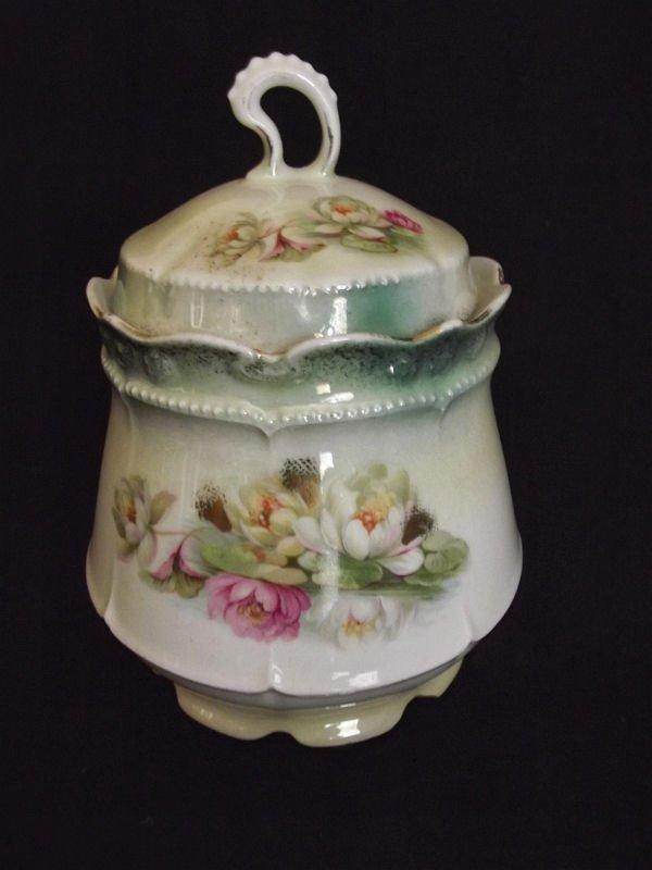 German Porcelain Biscuit Jar