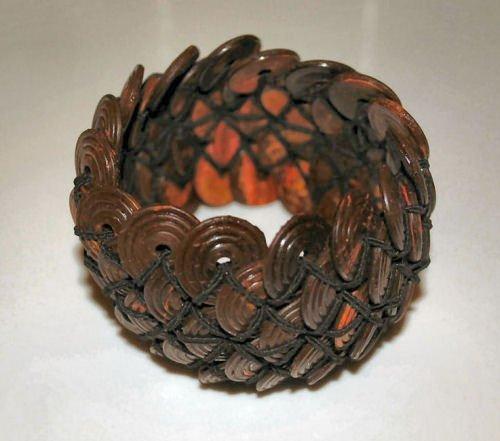 Carved Wood Stretch Bracelet