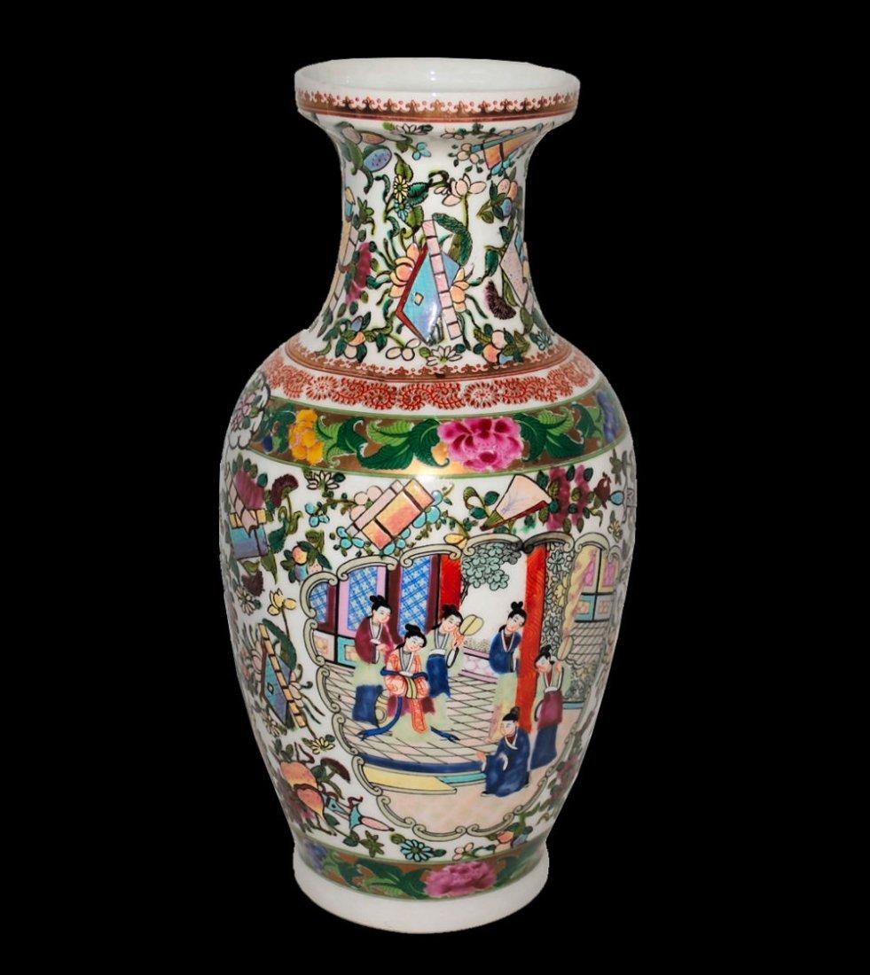 Chinese Qianlong Famille Rose Vase