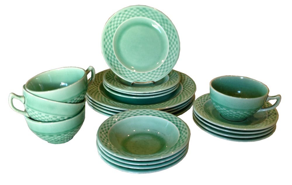 Set/20 W.S. George Basketweave China