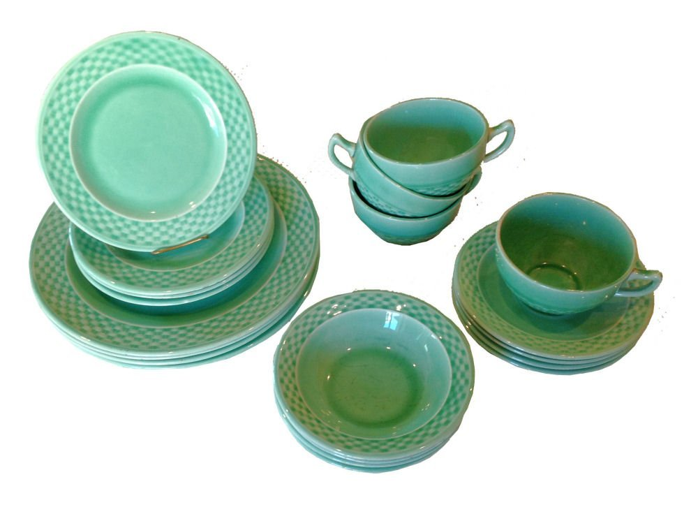 Set/20 W.S. George Basketweave China - 4