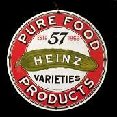 Porcelain Enamel Heinz Pickle Sign