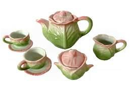 Miniature Majolica Tea Set