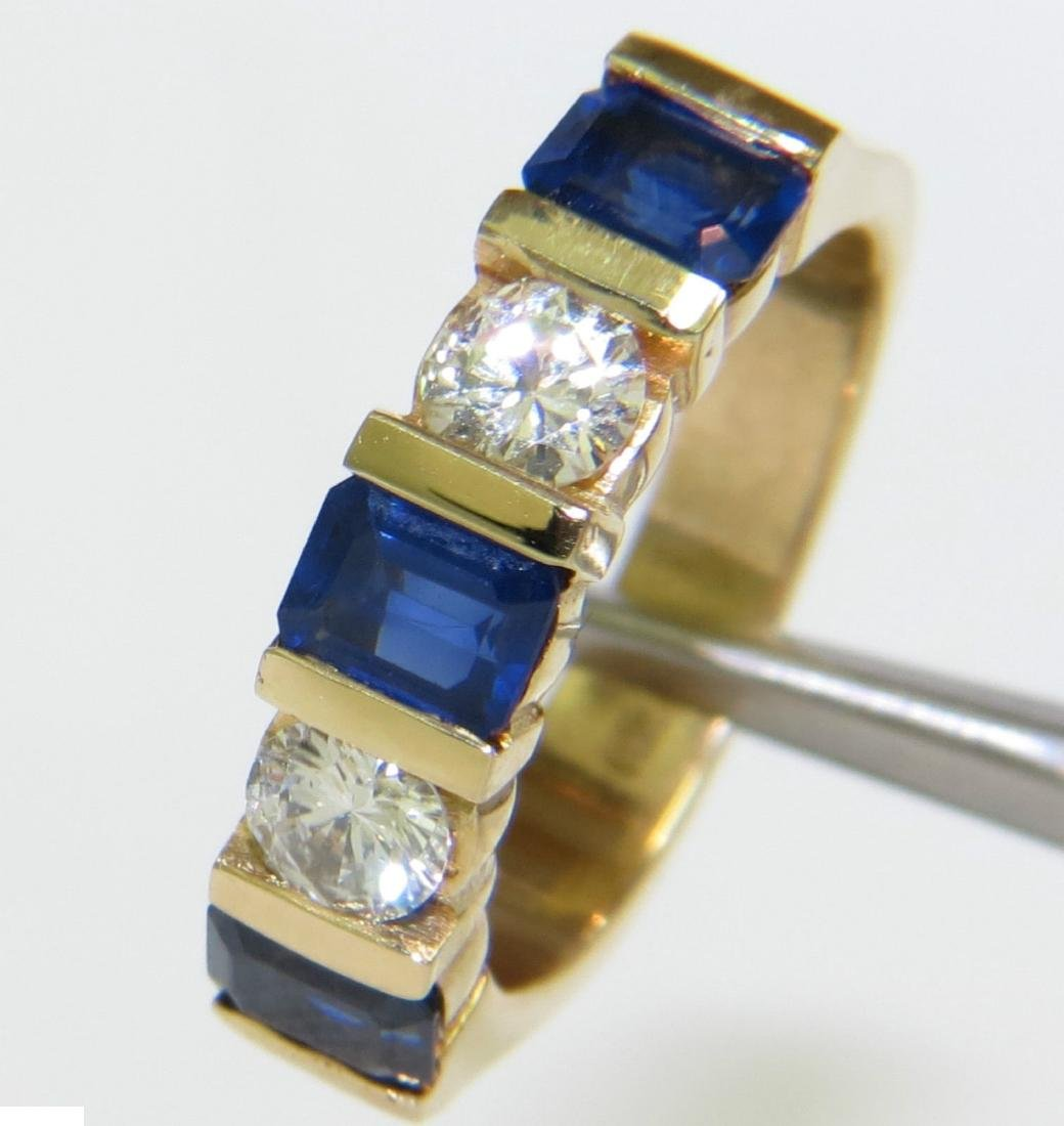 NATURAL 2.40CT SAPPHIRE DIAMOND BAND 14KT A+ CLASSIC