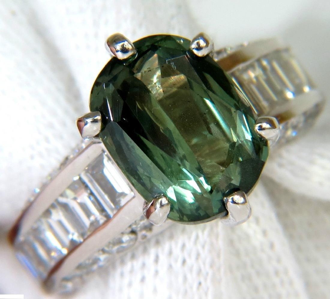 GIA FINE GEM GREEN 7.60CT NATURAL CHRYSOBERYL DIAMOND