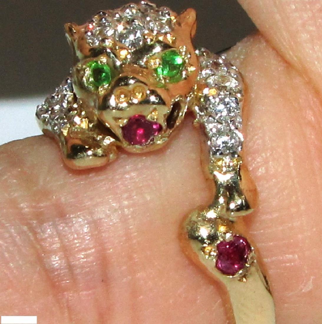 1.75CT DIAMONDS VINTAGE COUGAR RING 14KT