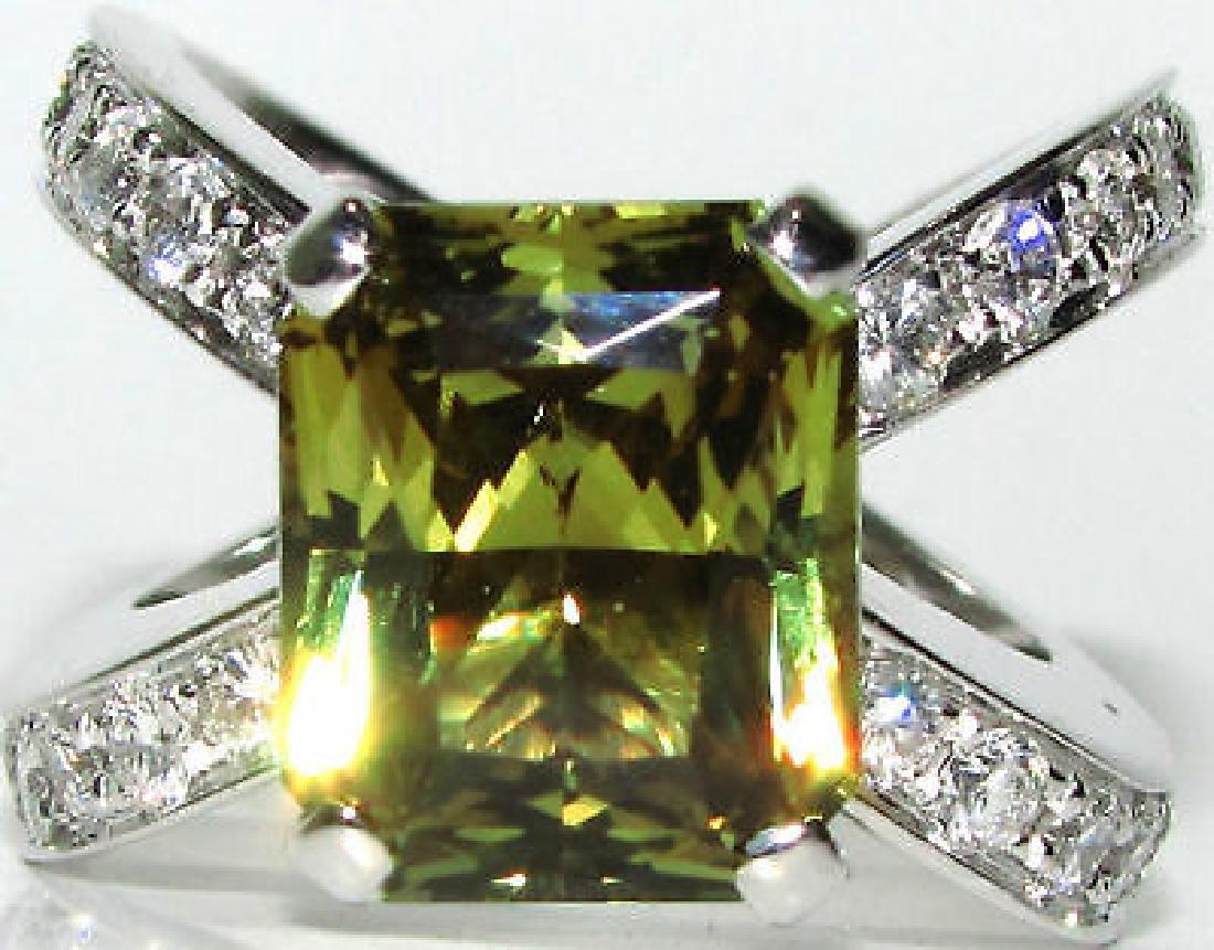 9.33CT GIA CHRYSOBERYL DIAMOND RING 18KT POSH