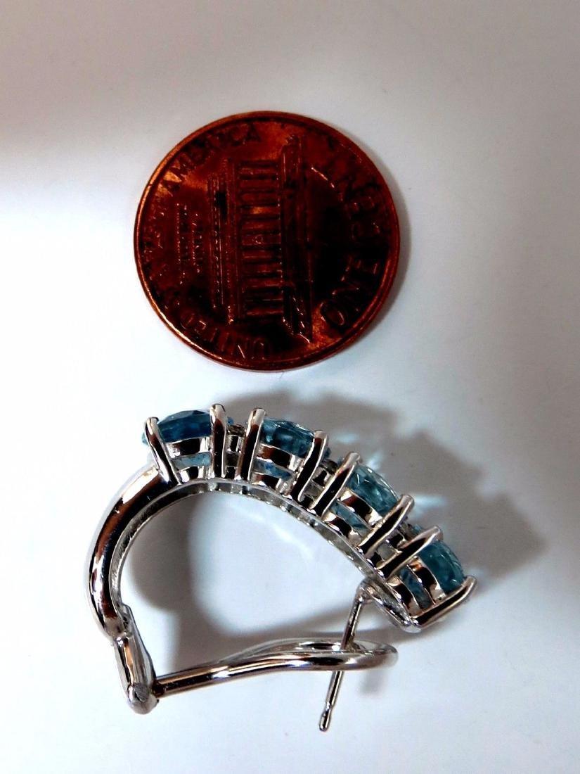 9.76ct natural blue aquamarine diamonds semi hoop ear - 5