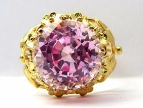 16.68ct pink sapphire ring 18KT FILIGREE ROUND
